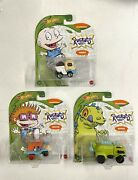 Hot Wheels Rugrats Lot/set Of 3 Die-cast Character Cars Chuckie Reptar Tommy New