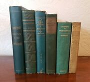 Old Books Staging Decorative Collectible Library Office Den Study Rare Lot Green