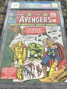 Avengers 1 Pure Silver Foil 35g Cgc 10 First Release Marvel Only 1000 Minted