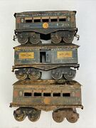 Vintage Pre-war American Flyer Blue 1202 And 1203 Passenger Coaches
