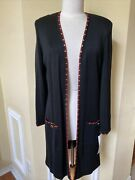 Eric Steven By Toula New With Tag Black Women Knits Size 12 Long Jacket T493