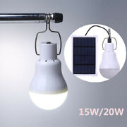 15x Home Outdoor Light Solar Led Panel Bulb Tent 15w/20w Power Camping Lamp Lot