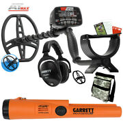 Garrett At Max Waterproof Metal Detector With Pro Pointer At Z-lynk And Pouch