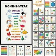 28 Pieces English-spanish Educational Posters For Toddlers For Nursery Classr...