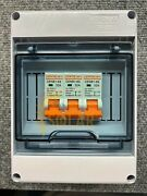 3 String Solar Disconnect Combiner Box W/ 32a Breakers Water Proof New 1000vdc