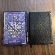 Niv 1984 Large Print Ultrathin Reference Bible - Genuine Leather -thinline