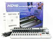 Zoom Hd 16 Hard Disk Recording Studio With Box Power Supply And Manual