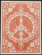 Peace Bomber Red-2008 Shepard Fairey Rare Print Obey Street Art Poster 18x24