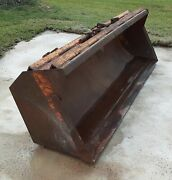 """International 3400a Tractor Backhoe 84"""" Front End Loader Bucket With Bucket Pins"""