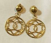 Vintage Big Coco Drop Earrings With Box Womenand039s Accessories Authentic