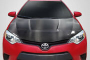 Carbon Creations Circuit Hood - 1 Piece For 2014-2016 Corolla