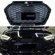 Fit For Audi A3 S3 2017 2018 2019 Front Grille Honeycomb Black Rs3 Style Grill