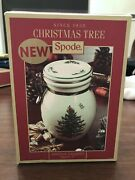 Spode Christmas Tree Airtight Canister Candy Dish New In Box