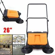 26 Hand Push Carpet Sweeper Non-electric Easy Manual Sweeping Sweeper