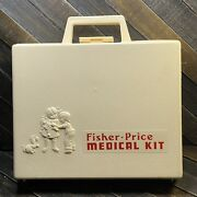 Vintage 1977 Fisher Price Medical Kit 936 W/plastic Case And 7 Toy Tools Rare Vgc