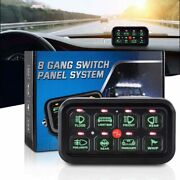 8 Gang On-off Control Switch Panel Led Light Display For Ford Jeep Nissan Utv