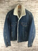 Vintage Leviandrsquos Sherpa Lined Denim Jacket - Made In Usa - Menand039s Large