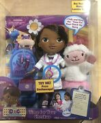 Disney Nib Doc Mcstuffins Time For Your Checkup Sing Along Doll Lambie New Toy