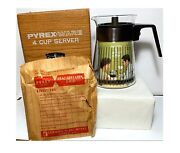 Pyrex Glass Corning Coffee Pot Carafe 4 Cup Server Vintage New In Box Nos