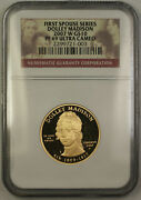 2007-w Dolley Madison First Spouse 1/2 Oz 9999 Gold 10 Coin Ngc Pf-69