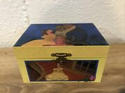 Vintage Disney Beauty And The Beast Jewelry And Trinket Music Box Works