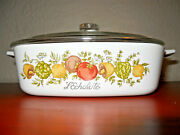 Rare 179 Stamp Vintage Corning Ware Land039echalote A -1 - B Spice Of Life 1 Quart