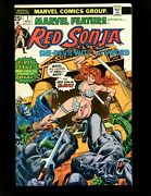 Marvel Feature 1 1975 Vf- Kane 1st Comic Devoted Entirely To Red Sonja Conan