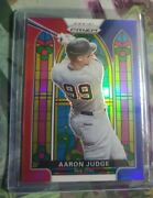2021 Panini Prizm Stained Glass Prizms Red White And Blue 5 Aaron Judge Yankees