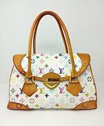 [rank Bc] Louis Vuitton Monogram Multicolor Beverly Gm White From Japan