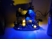 Lemax Spooky Town Vickiand039s Cattery Black Cat Haunted House Halloween Village