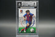 2004 05 Panini Barca Campeon Spanish 62 Lionel Messi Rookie Bgs 9 Rc Mint