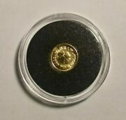 Lucky Coin Beauty Pure Gold 1/2 Gram Quality Usa Made Bin Bonus With Holder