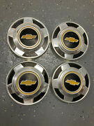 4 10 1/2 Dog Dish Hubcaps Vintage Chevy Pickup Nice 08132101