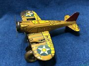 Vintage Marx Sparkling Airplane Tin Litho Wind Up 712 Us Army Colorful Orig. 3