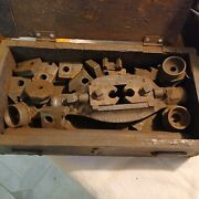 Tool And Die Making Tools Antiques In Old Wood Box...rare Antique Find