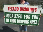 Vintage Original 1950and039s Texaco Gas Station Gasoline Sign Pole Or Pump Mounted