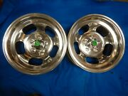 Polished 15x7 Ansen Slot Mag Wheels Ford Dodge Mags Mopar R/t Mustang Torino Gt