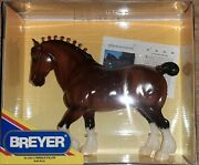 Breyer Glossy Clydesdale Stallion Red Ribbon Bows - Model 1202 Mint Cond.