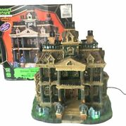 Lemax Spooky Town Gothic Haunted Mansion - Retired - Works Great - See Video