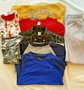 Lot 10 Pieces Boys Size 6 Clothes Pants Tops Sweaters Loungewear Nike Gap