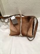 New Clever Carriage Company Safari Springbok And Leather Messenger Shoulder Bag