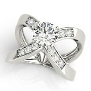 1.10 Carat Real Diamond Engagement Ring For Women Solid 950 Platinum Sizes 7 8 9