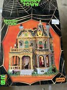 Lemax Spooky Town Withered Mansion Animated Halloween Village And Box 45662 Rare
