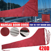 3.5m Mainsail Boom Cover Protector Waterproof Fabric Red For 10-11ft Boom Sail