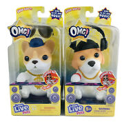 Little Live Omg Pets Have Talent Dj Pup And Hip Hop Soft Sings Own Music Lot Of 2