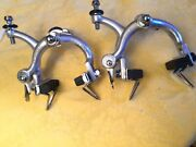 Campagnolo C1970 Chrome Record Long Reach Brakes Extended-drop Bolts 4 Nos Pads