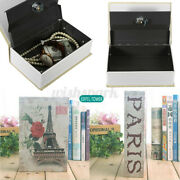 Mini Security Key Lock Box Case Cash Jewelry Storage Dictionary Book Home And