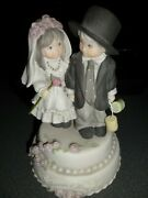 Kim Anderson Kids Pretty As A Picture Enesco Bride And Groom Musical - Mint