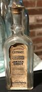 Vintage Jamaica Ginger Extract Flavoring Extracts Bottle Charles Osgood Norwich