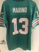 Dan Marino Miami Dolphins Signed Andauthenticated Jersey.nwt,mitchellandness,mens48.